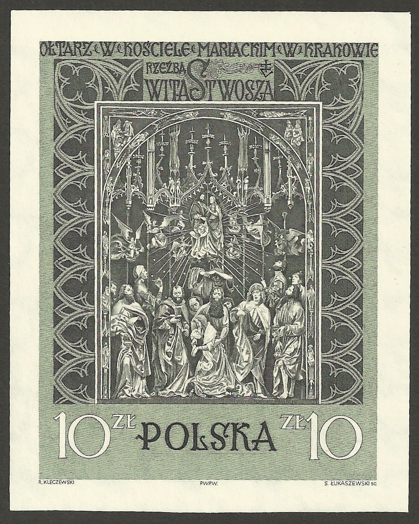 #931 Poland - The Assumption of the Virgin, Imperf. M/S (MNH)