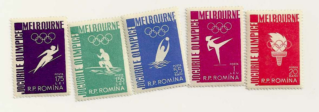 #1116-1120 Romania - 16th Olympic Games, Melbourne (MNH)