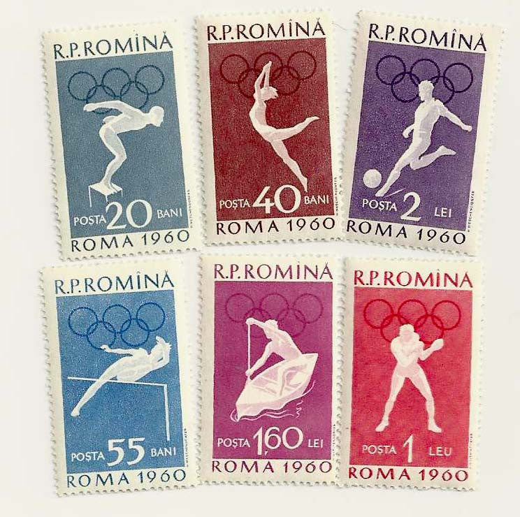 #1331-1336 Romania - 17th Olympic Games (MNH)