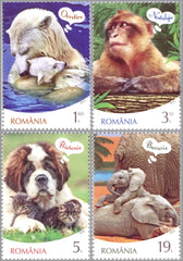 #6341-6344 Romania - Animals and Thought Balloons, Set of 4 (MNH)