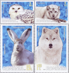 Romania - 2020 Polar Fauna, Set of 4 (MNH)