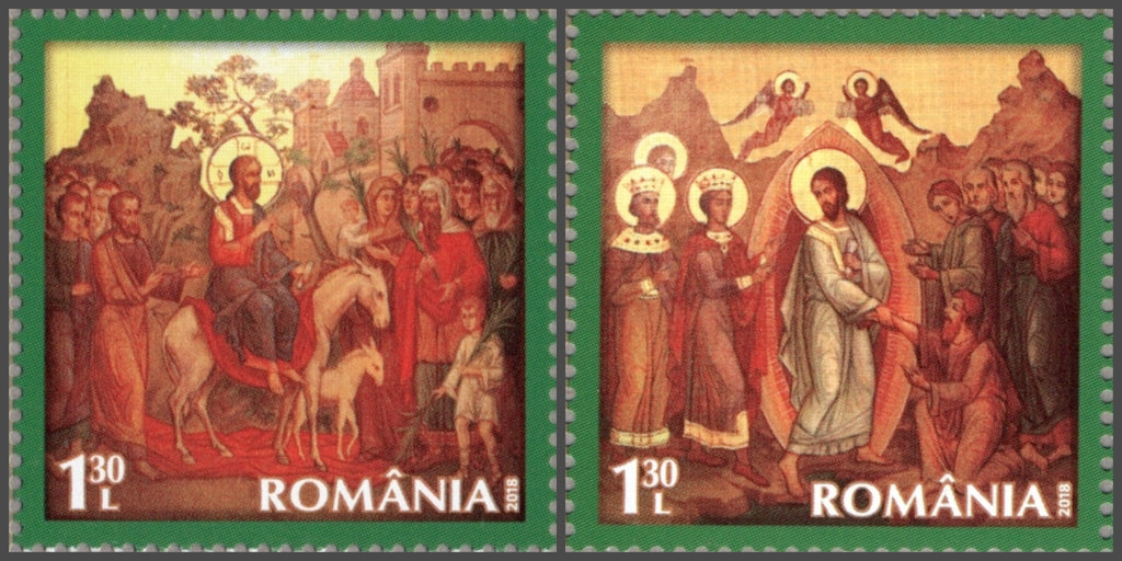 #6069-6070 Romania - 2018 Easter, Set of 2 (MNH)