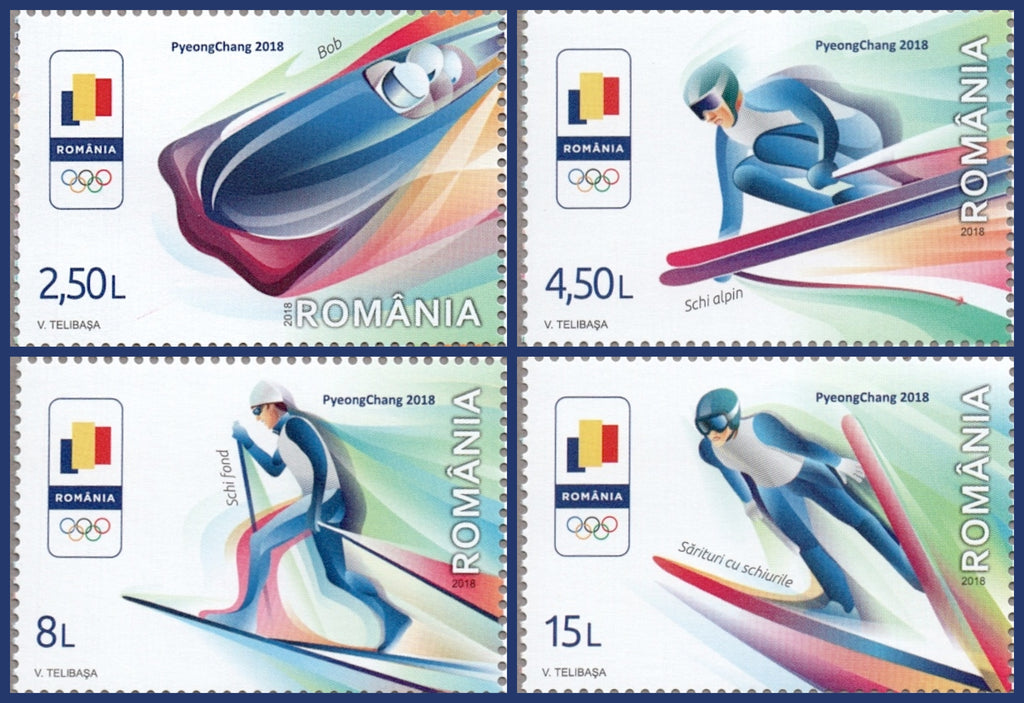 #6061-6064 Romania - 2018 Winter Olympic Games, Set of 4 (MNH)