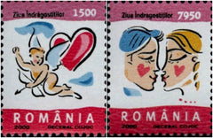 #4345-4346 Romania - 2000 Valentine's Day, Set of 2 (MNH)