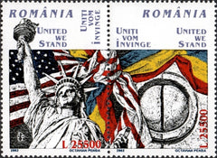 #4510 Romania - United We Stand, Pair (MNH)