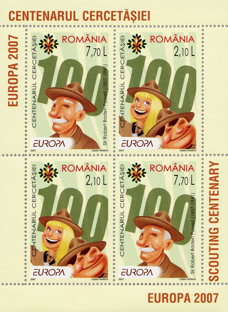 #4942b Romania - 2007 Europa: 100 Years of Scouting S/S (MNH)