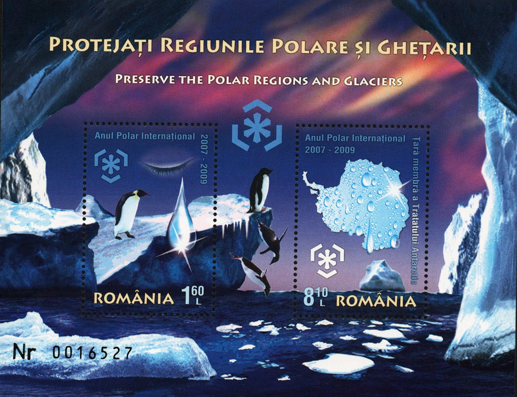 #5095b Romania - Preservation of Polar Regions and Glaciers S/S (MNH)
