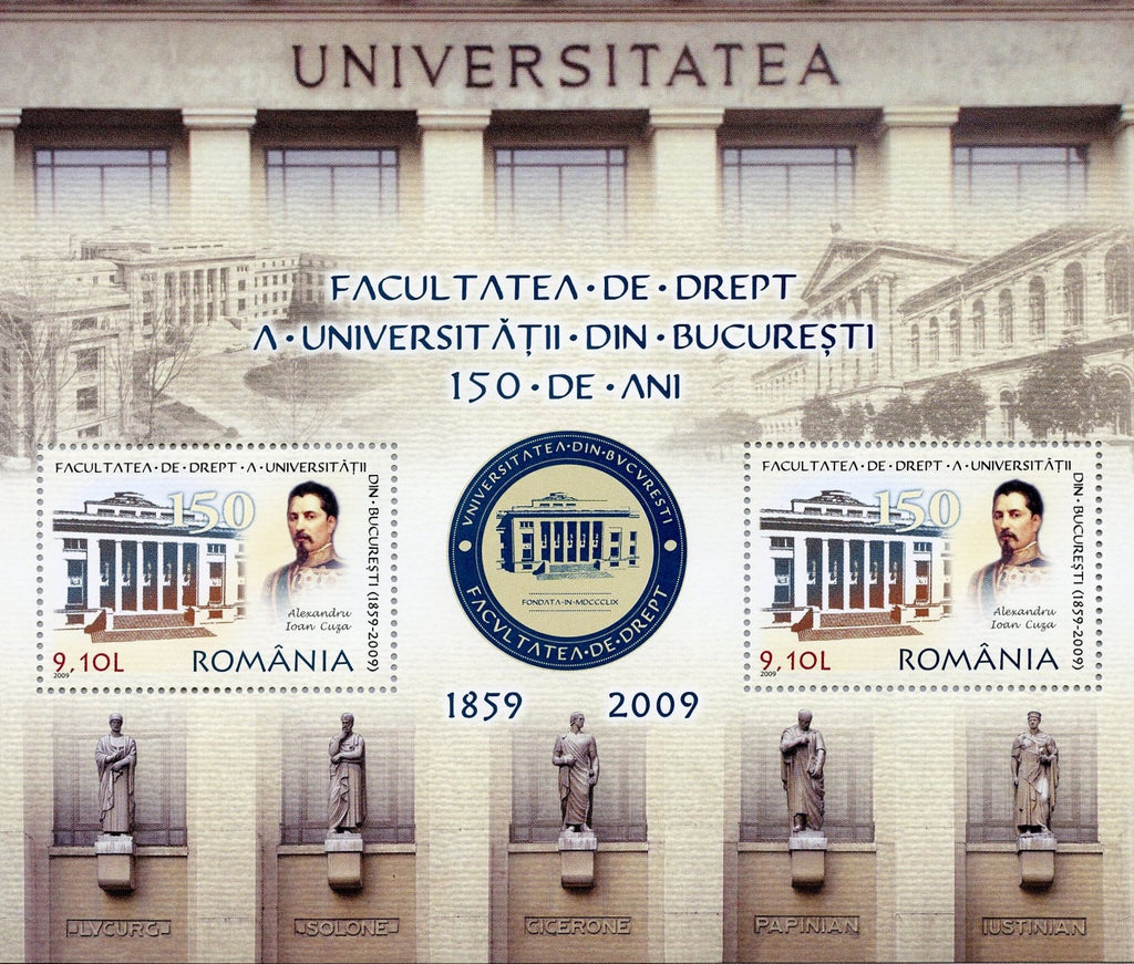 #5141a Romania - University of Bucharest Law Faculty, 150th Anniv. S/S (MNH)