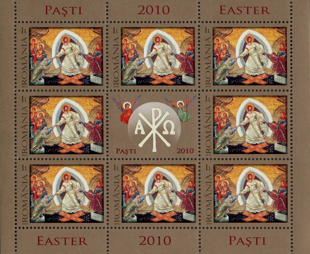 #5162 Romania - 2010 Easter, Sheet of 8 (MNH)