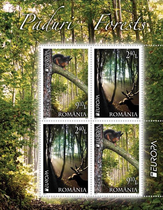 #5262c Romania - 2011 Europa: Intl. Year of Forests S/S (MLH)