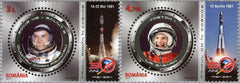 #5269-5270 Romania - First Man in Space, 50th Anniv., Set of 2 (MNH)