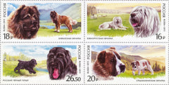 #7634 Russia - Dogs, Block of 4 (MNH)