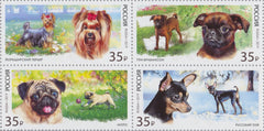 #8005 Russia - Dogs, Block of 4 (MNH)