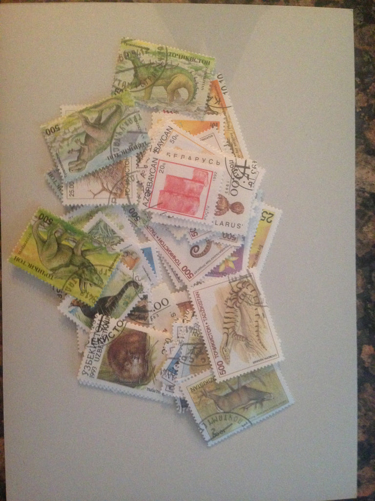 Russian Republics Stamp Packet (50 Different Stamps) (Used)