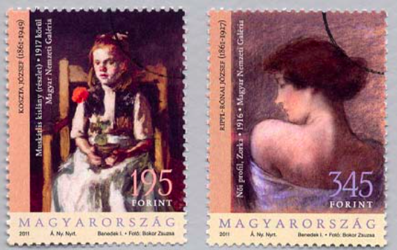 #4208-4209 Hungary - Paintings (MNH)