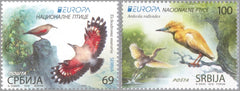 #857-858 Serbia - 2019 Europa: National Birds (MNH)