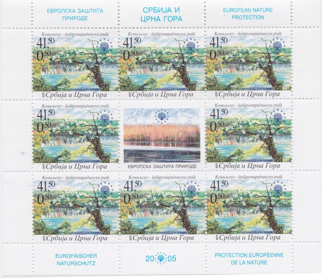 #306-307 Serbia - European Nature Protection, Sheets of 8 (MNH)