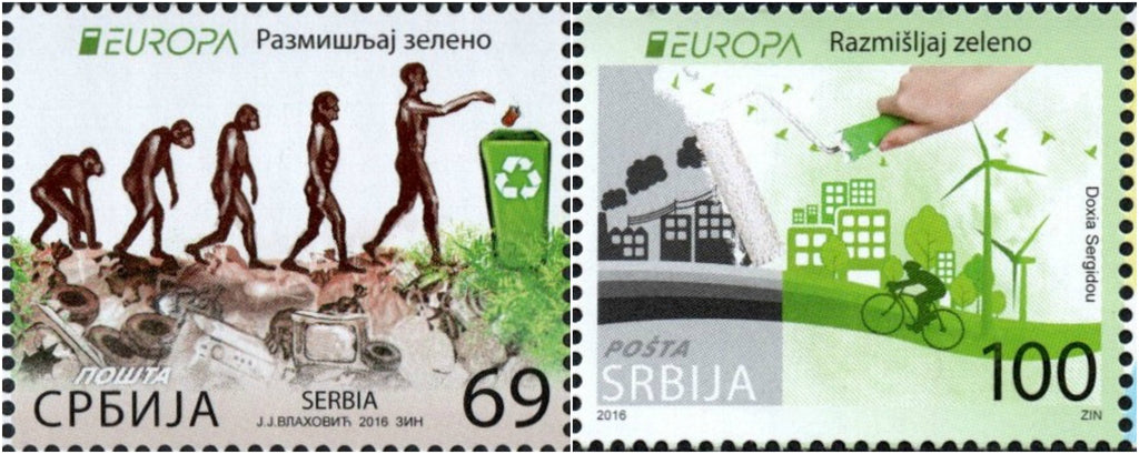 #741-742 Serbia - 2016 Europa: Think Green, Set of 2 (MNH)