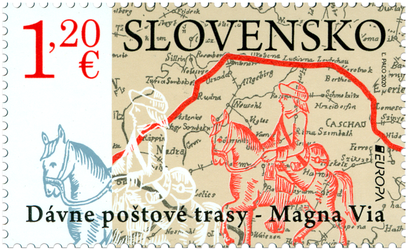 Slovakia - 2020 Europa: Ancient Mail Routes – The Magna Via (MNH)