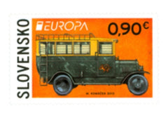 #662 Slovakia - 2013 Europa: The Postman Van, Booklet Single (MNH)