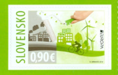 #741 Slovakia - 2016 Europa: Think Green, Booklet Stamp (MNH)