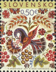 Slovakia - 2017 Easter: Folk Painting from Vajnory (MNH)