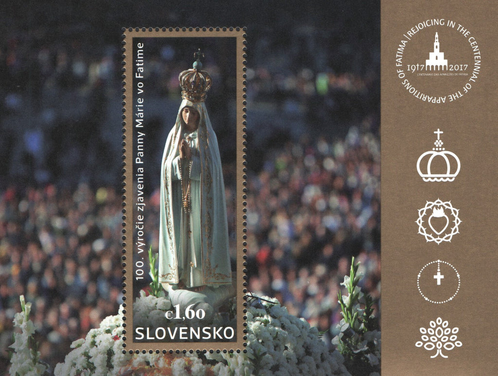 #759 Slovakia - 2017, 100th Anniv. of Our Lady of Fatima Apparitions S/S (MNH)