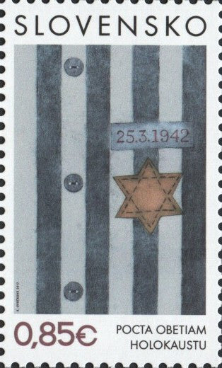 #761 Slovakia - 2017 Tribute to Victims of the Holocaust (MNH)