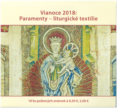 #806a Slovakia - 2018 Christmas: Paraments – Liturgical Textiles, Complete Booklet (MNH)