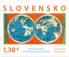 #807 Slovakia - Joint Issue with Turkey, Map From Science Book (MNH)