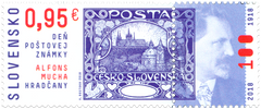 #808 Slovakia - Stamp Day: Czechoslovakia Type A1, By Alfons Mucha (MNH)
