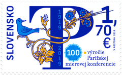 Slovakia - 2019, 100th Anniversary of the Treaties of Paris (MNH)