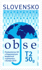 #809 Slovakia - 2019 Organization for Security and Co-operation in Europe (OSCE) (MNH)