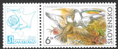 #408 Slovakia - Doves and Roses (MNH)