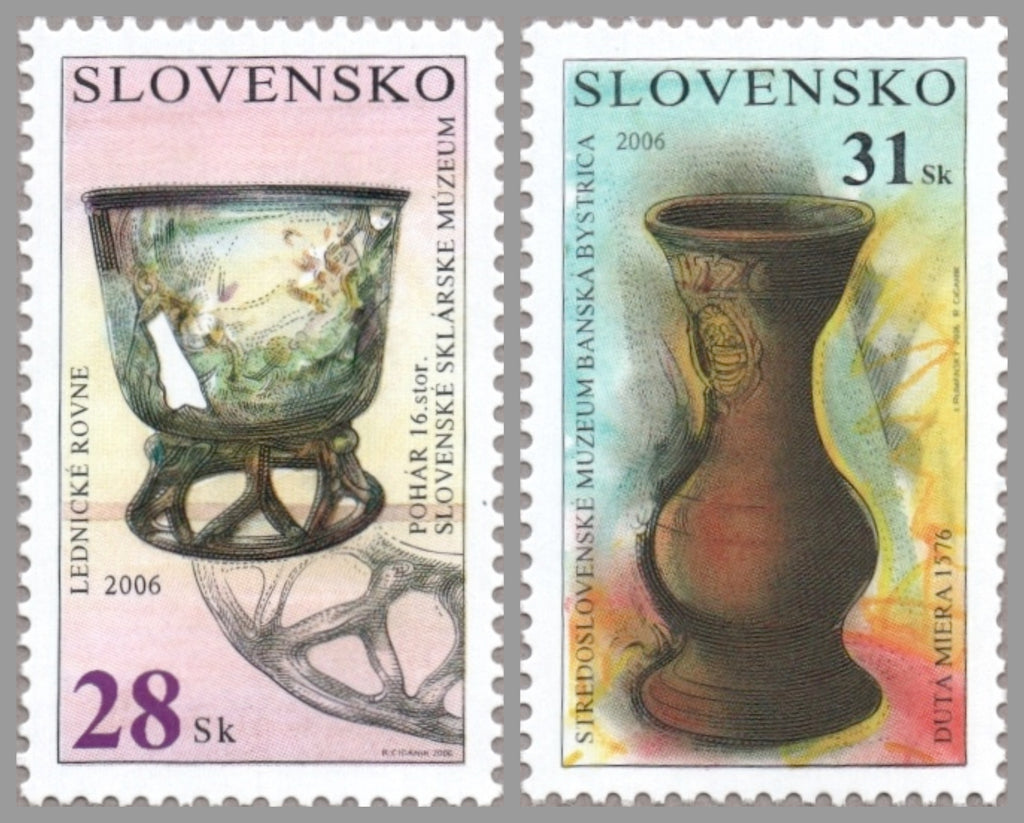 #504-505 Slovakia - Objects in Museums (MNH)