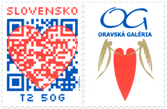 #707 Slovakia - 2015 Valentine's Day: Heart and QR Code + Label (MNH)