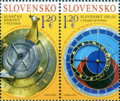 #813 Slovakia - 2019 Timekeeping Devices, Pair (MNH)