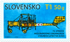 #814 Slovakia - International Civil Aviation Organisation (ICAO), 75th Anniv. (MNH)