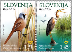 #1336-1337 Slovenia - 2019 Europa: National Birds (MNH)