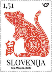 Slovenia - 2020 Chinese Lunar Year: Year of the Rat, Single (MNH)