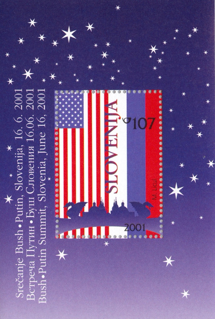 #463a Slovenia - Flags of US and Russia S/S (MNH)