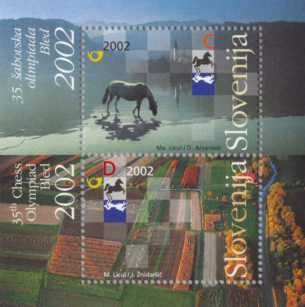 #507 Slovenia - 35th Chess Olympiad, Bled S/S (MNH)