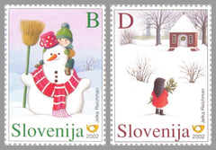 #509-510 Slovenia - Christmas and New Year's Greeting (MNH)