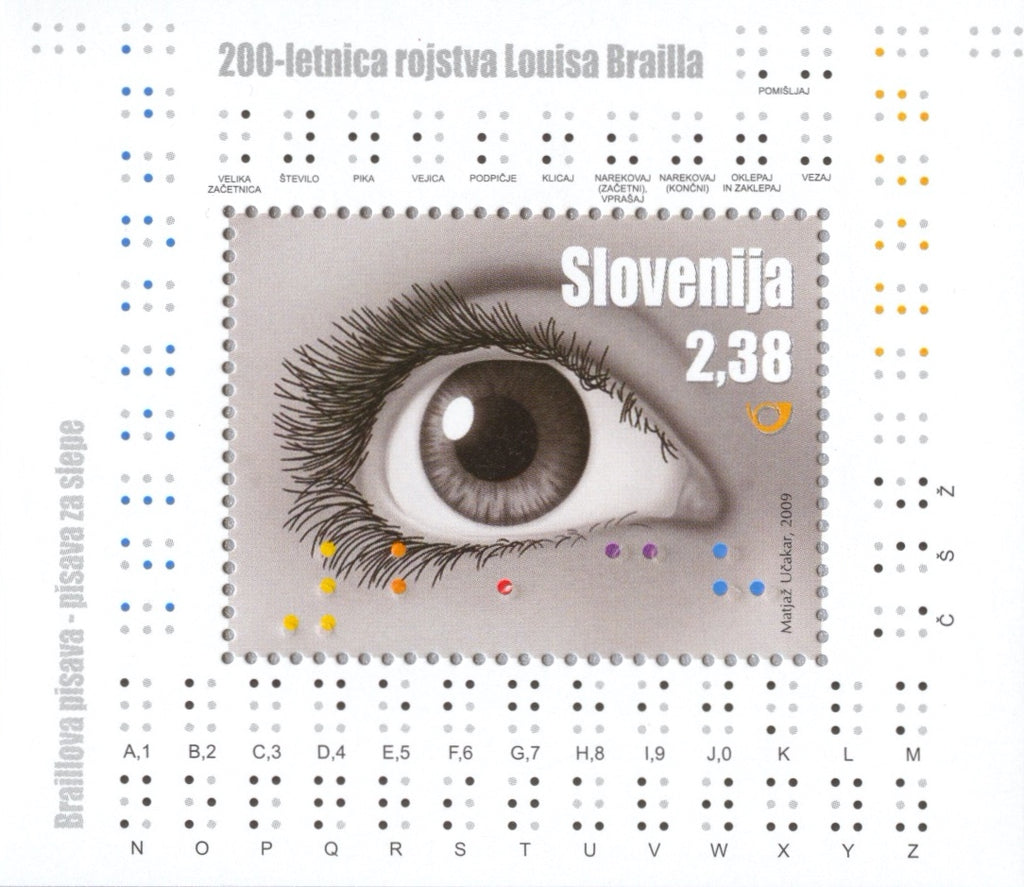 #777 Slovenia - Eye and Braille Letters S/S (MNH)