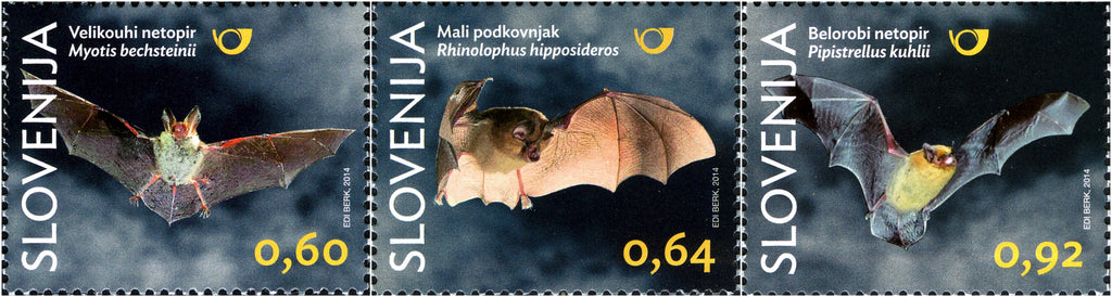 #1057-1059 Slovenia - Bats, Set of 3 (MNH)