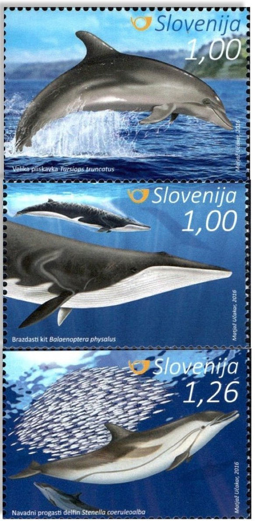 #1190-1192 Slovenia - Cetaceans, Set of 3 (MNH)