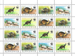 #247 Slovenia - World Wildlife Fund, Turtles, Full Sheet (MNH)