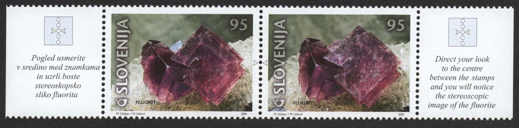 #453-454 Slovenia - Fossil and Mineral Type of 2000 (MNH)