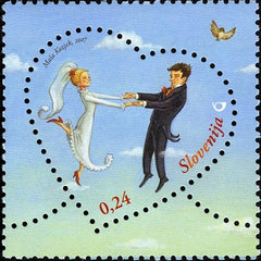 #705 Slovenia - 2007 Love, Bride and Groom (MNH)