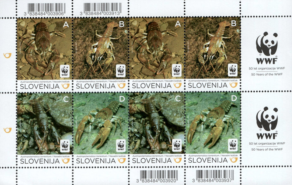 #896 Slovenia - Worldwide Fund for Nature (WWF) M/S (MNH)